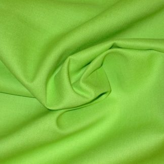 SPECTRUM SOLIDS COTTON FABRIC by MAKOWER UK -  LIME GREEN -