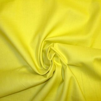 SOLIDS COTTON FABRIC by EBOR FABRICS -  LEMON YELLOW -