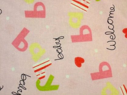 WELCOME BABY ORIGINAL DESIGN BY FABRICLAND.  PINK