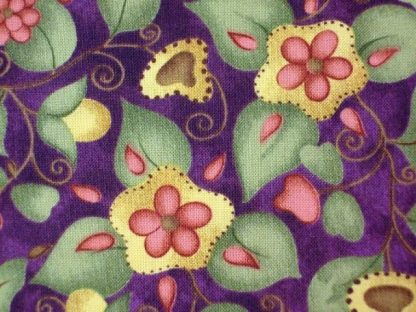 EMILY'S MEMORIES by JILL KEMP for RED ROOSTER FABRICS MAUVE /GREEN