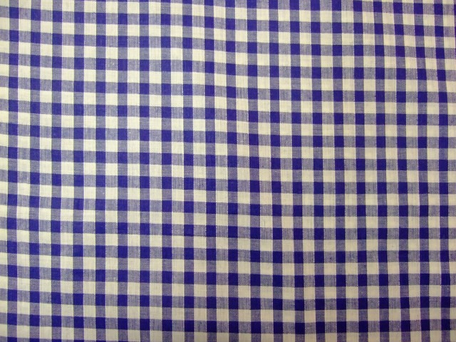 100% COTTON GINGHAM CHECK.  BLUE