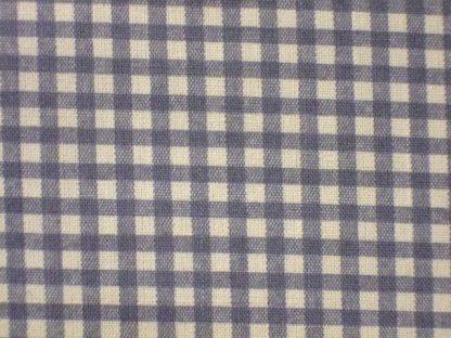 LINEN LOOK COTTON  FABRIC  by JOHN LOUDEN   CHECK  CREAM / GREY