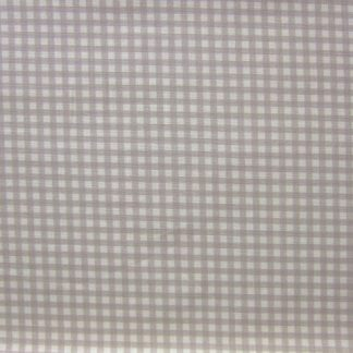 LINEN LOOK COTTON  FABRIC  by JOHN LOUDEN -  CHECK CREAM / BEIGE -