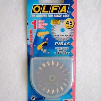 OLFA ROTARY CUTTER SPARE PINKING BLADE 45mm