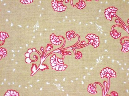 CHANTEILLE DESIGN 057  for LOUDEN  RASPBERRY RED ON BEIGE