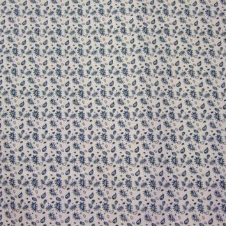 CHANTEILLE DESIGN 056 for LOUDEN  PETROL BLUE ON CREAM