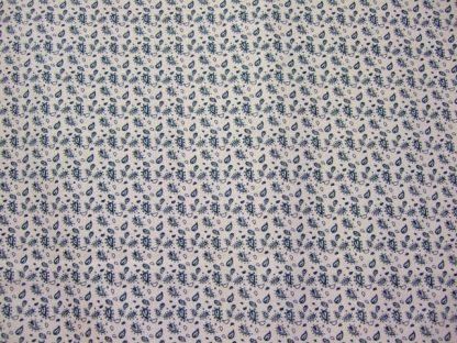CHANTEILLE DESIGN 056 for LOUDEN  PETROL BLUE ON CREAM