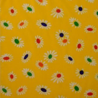 POLY/COTTON PRINT FABRIC   FLORAL YELLOW