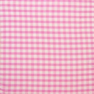 POLY/COTTON 1/4'' CORDED GINGHAM FABRIC  -  PINK -