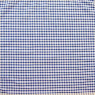 POLY/COTTON 1/8''  CORDED GINGHAM - PALE BLUE  112cm WIDE