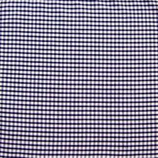 POLY/COTTON 1/8'' CORDED GINGHAM FABRIC - NAVY BLUE.