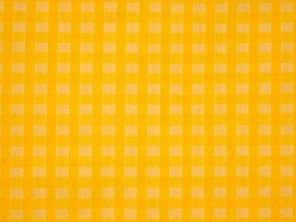 POLY/COTTON 1/8'' CORDED GINGHAM  FABRIC  YELLOW