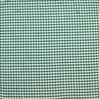 POLY/COTTON 1/8'' CORDED GINGHAM FABRIC - GREEN -