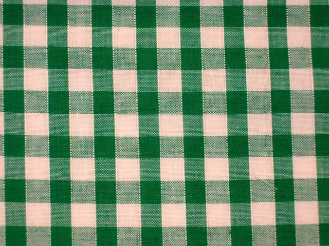 """DRESS FABRIC-FREE P/&P POLY//COTTON CORDED GINGHAM-1//4/"""" BLACK//WHITE"""