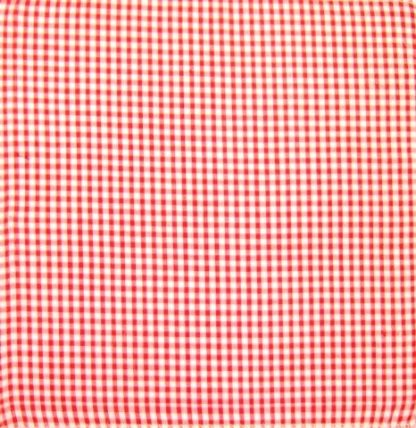 POLY/COTTON 1/4'' CORDED GINGHAM FABRIC - RED -