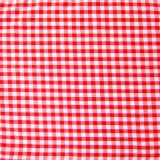 POLY/COTTON 1/8'' CORDED GINGHAM FABRIC -  RED -