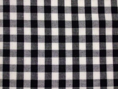POLY/COTTON 1/4''  GINGHAM FABRIC -  BLACK