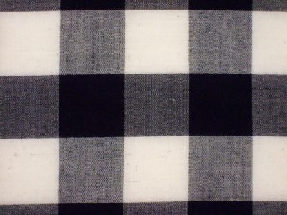 POLY/COTTON 1'' GINGHAM FABRIC -  BLACK -
