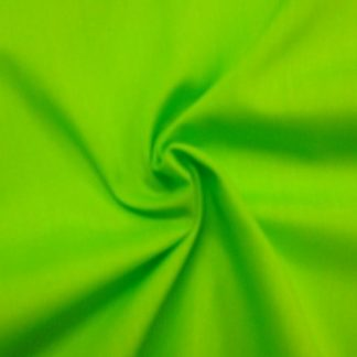 POLY/COTTON PLAIN FABRIC  LIME GREEN