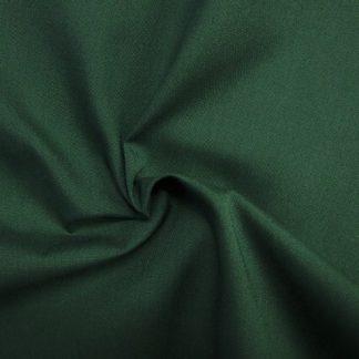 POLY/COTTON PLAIN FABRIC BOTTLE GREEN