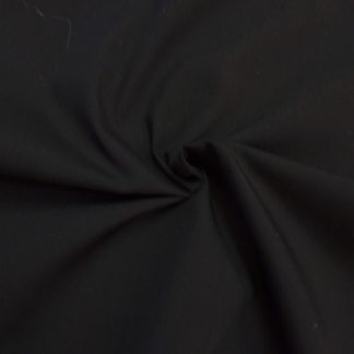 POLY/COTTON PLAIN FABRIC JET BLACK