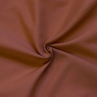 POLY/COTTON PLAIN FABRIC BROWN