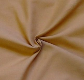 POLY/COTTON PLAIN FABRIC - CAMEL -