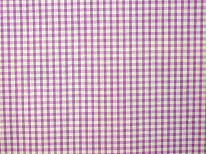 POLY/COTTON  1/8'' CORDED GINGHAM FABRIC- PURPLE