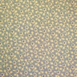1862 BATTLE HYMN by Barbara Brackman for Moda. Cotton fabric Blue