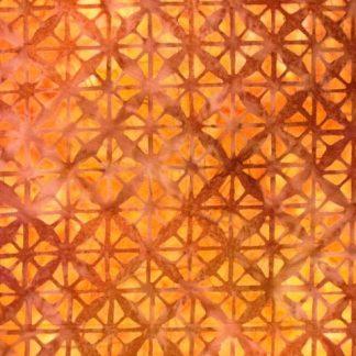 BALI BATIK for EBOR FABRICS  ORANGE/BROWN/YELLOW