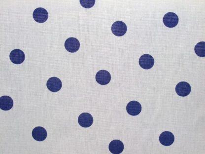 BLUE SPOTS ON CREAM-heavier weight fabric
