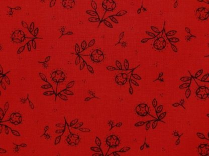 ROUND ROBIN by KATHY SCHIMTZ LLC for MODA - RED