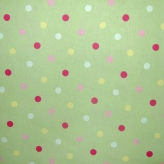 HEAVIER WEIGHT COTTON FABRIC- CONFETTI - PASTEL GREEN