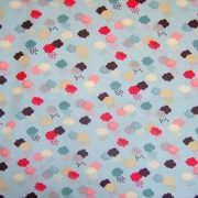 WASH DAY CLOUDS by THE HENLEY STUDIO for MAKOWER - DUCK EGG BLUE/ MULTI