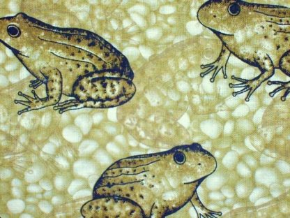 NATURE'S ETCHINGS FROGS for BENARTEX - OLIVE GREEN-