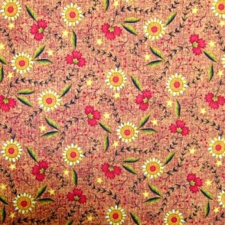 CLASSIC FOLK ART by FABRI- QUILT - AMBER/GOLD /RED