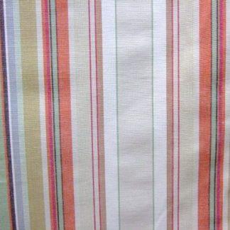 REMAKE COTTON STRIPE - heavier weight fabric- BEIGE/RED/GREEN