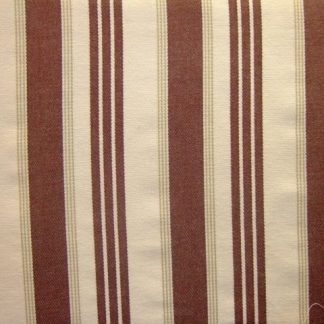 HEAVIER WEIGHT COTTON FABRIC- DRILL - CREAM/BROWN