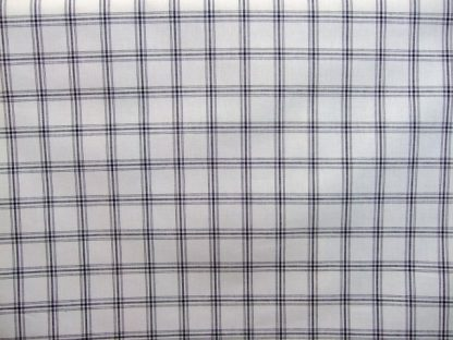 CHECKS - heavier weight cotton fabric - NATURAL WHITE / BLACK -