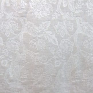 SOFTONES FLORAL - heavier weight cotton fabric - NATURAL WHITE -