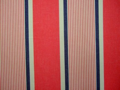 LANNOY LAQUE - heavier weight cotton fabric- BLUE /RED/BEIGE