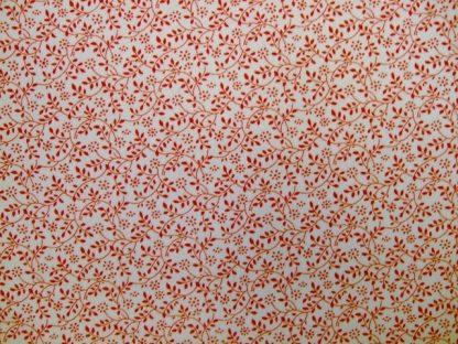 DITZY FLORAL SPRIGG   by JOHN LOUDEN -  RED ON WHITE -