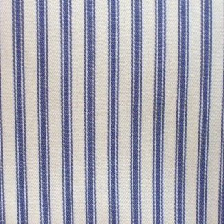 WOVEN COTTON TICKING - CREAM/BLUE -