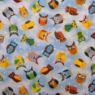 NITE OWLS by JUDY HANSEN for PAINTBRUSH STUDIO - MULTI -