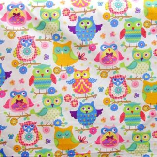 HOU HOU COTTON FABRIC - MULTI -