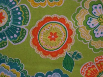 DORI by MITZI POWERS for BENARTEX - MULTI ON LIME GREEN -