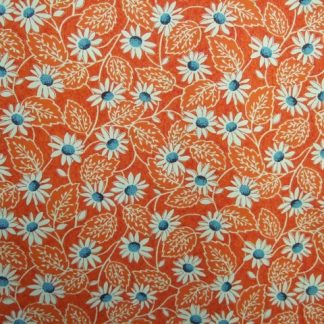 POTLUCK by AMERICAN JANE PATTERNS SANDY KLOP for MODA - ORANGE/BLUE -