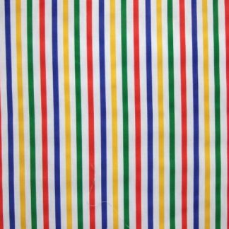 POLY/COTTON PRIMARY COLOUR MEDIUM WIDTH STRIPES