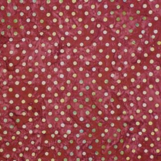 HOPE CHEST BATIKS by LAUNDRY BASKET for MODA -  CREAM SPOTS ON MAROON -
