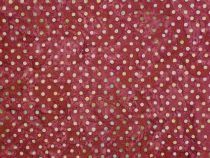 HOPE CHEST BATIKS by LAUNDRY BASKET for MODA -  CREAM SPOTS ON MAROON -
